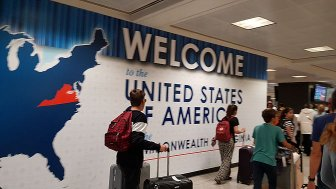 Arrival in the USA